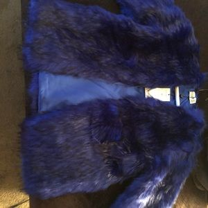 New with tags, open fur, from ASOS, size 8.